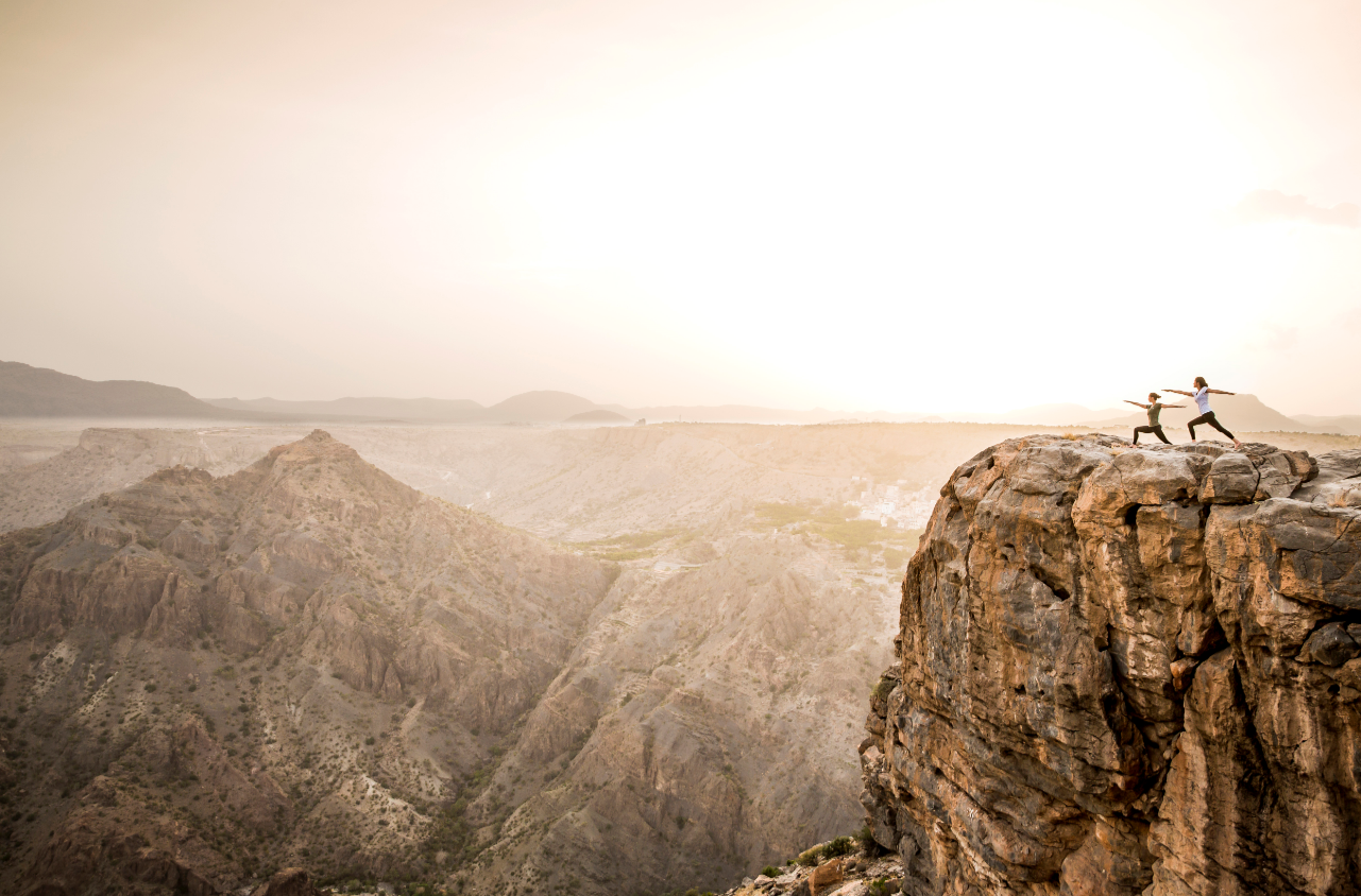 Room views of the breathtakingly beautiful Omani mountains.