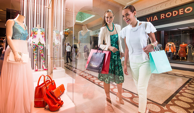 Shop till you drop at an array of fashion boutiques at Atlantis, The Palm