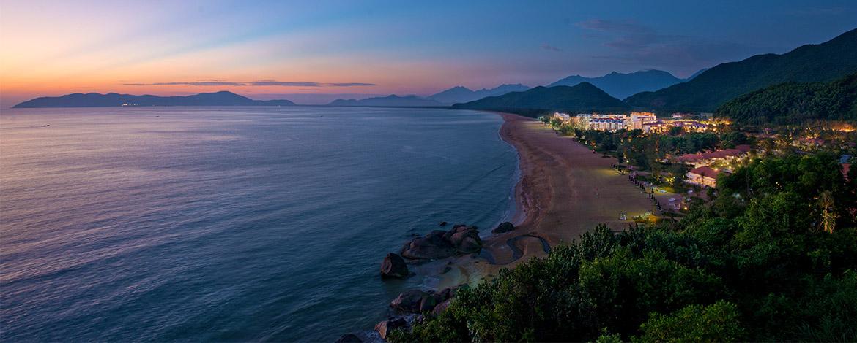 Beach, sea and mountain room views at Banyan Tree Resort.