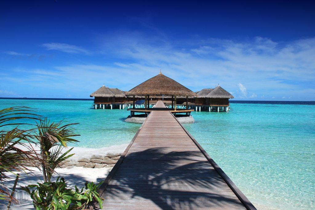 Stay in a water villa