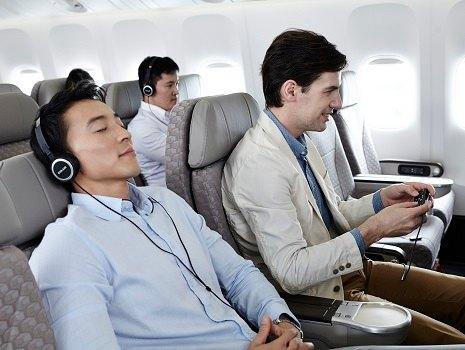 Seat recline on an EVA Air flight