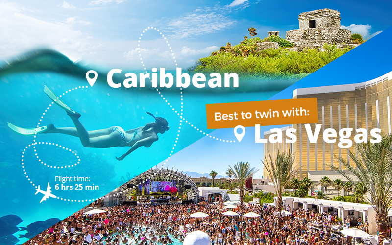 Twin centre holidays in Cancun and Las Vegas.