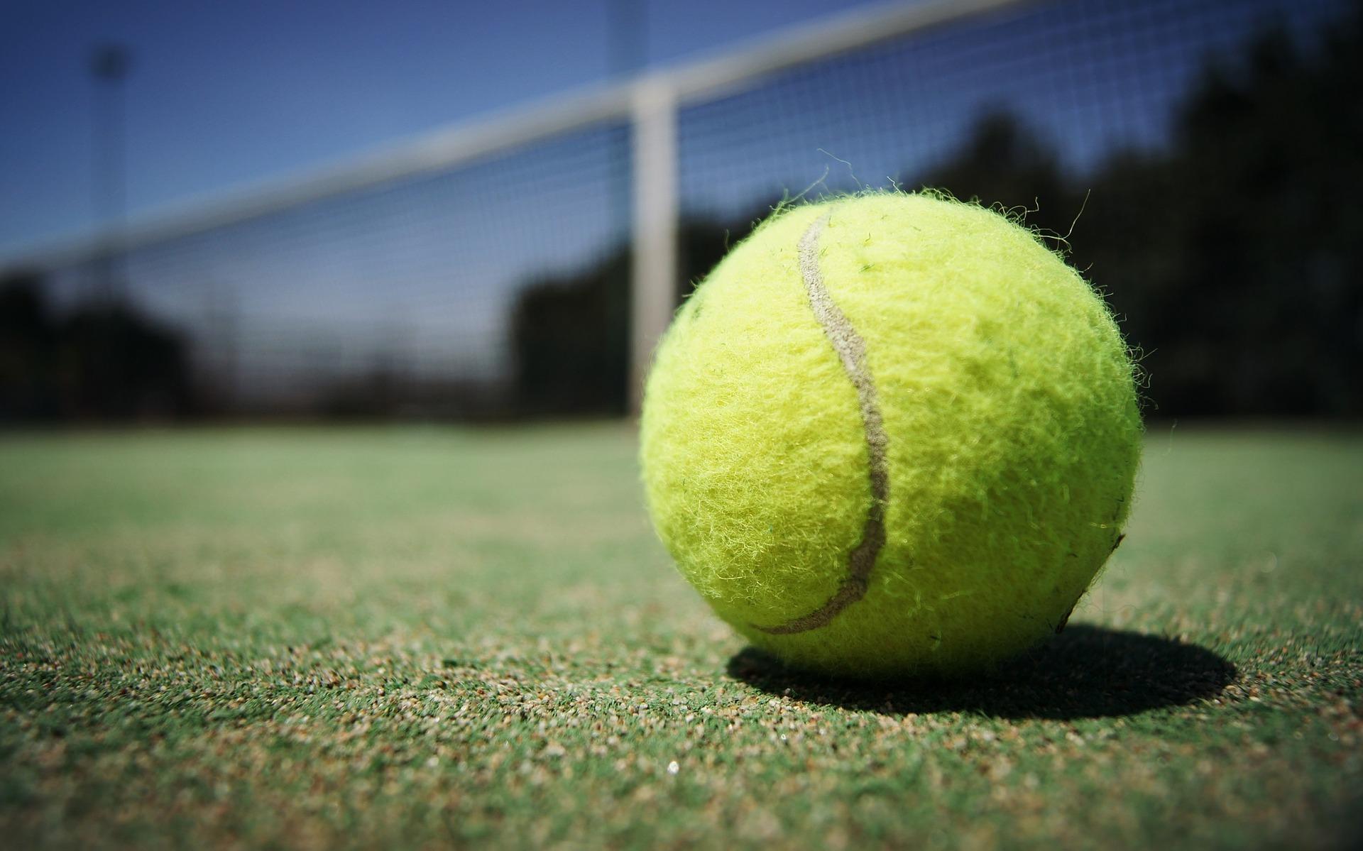 a tennis ball